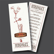 "Waterproof Flat Table Menus 4.25"" x 11"" - TerraSlate Waterproof Paper"