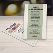 "Waterproof Flat Table Menus 5"" x 7"" - TerraSlate Waterproof Paper"
