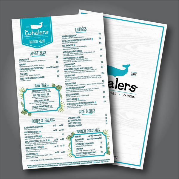 Waterproof Flat Table Menus with Printing 8.5