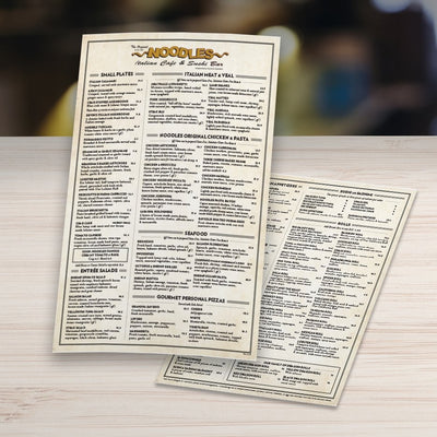 "Waterproof Table Menus 12"" x 18"" - TerraSlate Waterproof Paper"