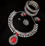 Oxidized Sets with Semi precious stone - Indien Boutique