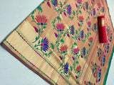Golden Tissue Silk Saree - Indien Boutique