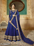 Blue Anarkali Gown - Indien Boutique