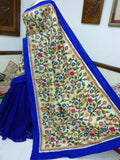 Jamdani Kantha Stitch Saree - Indien Boutique