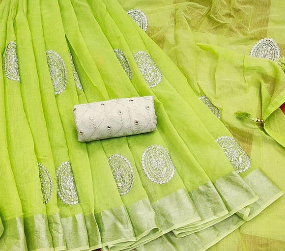 Soft Silk Linen Sarees - Indien Boutique