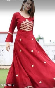 Red Jaipuri printed Kurti - Indien Boutique