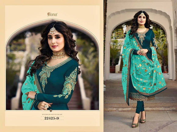 Satin Salwar Churidar Dress Material - Indien Boutique
