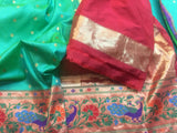 Green Katan Banarasi Silk Saree - Indien Boutique