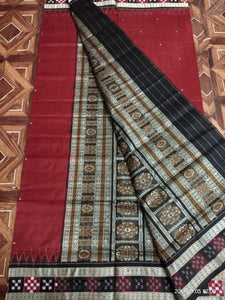 Sambalpuri Patto Silk Saree - Indien Boutique