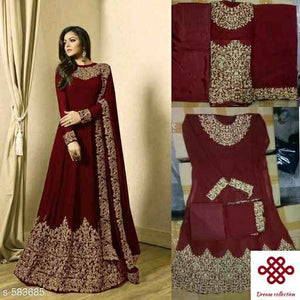 Embroidered Georgette Set - Indien Boutique