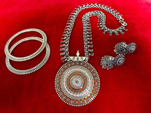 Oxidized German Silver Set - Indien Boutique
