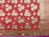 Katan Silk Red Saree - Indien Boutique