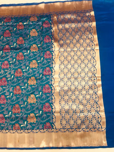 Katan Jal Silk Saree - Indien Boutique