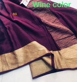 Mysore Silk Wrinkle Saree - Indien Boutique