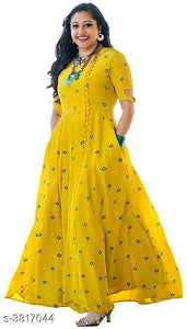 Yellow Jaipuri printed Kurti - Indien Boutique