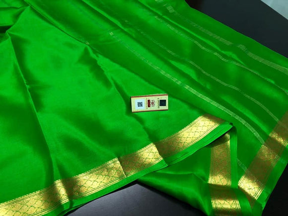 Pure Mysore Silk Crepe Saree - Indien Boutique