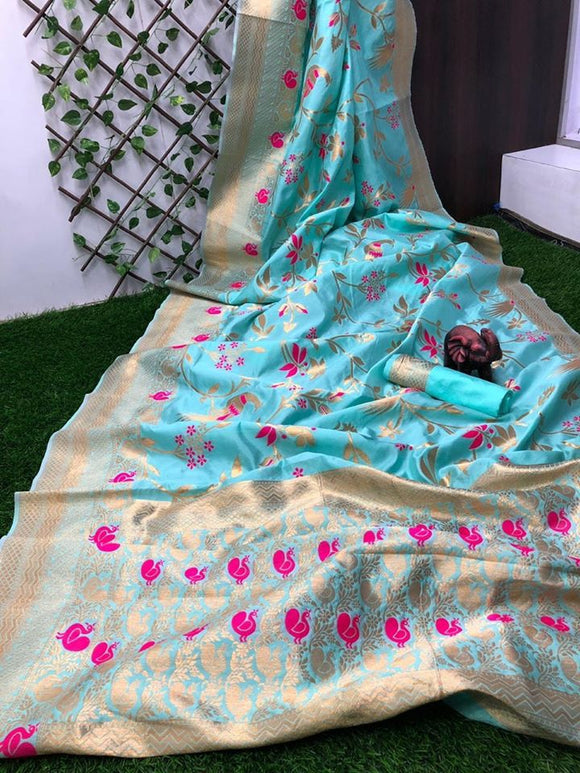 Banarasi Silk with meenakari - Indien Boutique