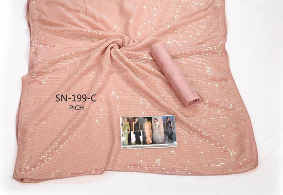 Sequinned Satin Saree - Indien Boutique