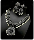 Oxidized Sets with Pearl Work - Indien Boutique