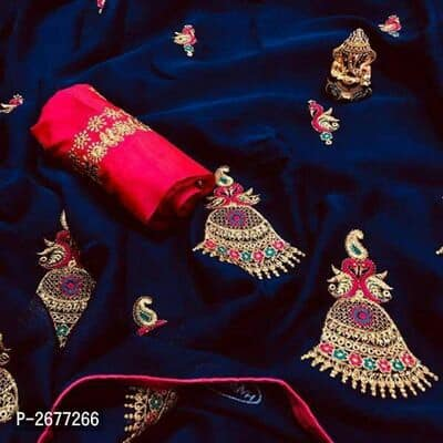 Embroidered Chiffon Sarees - Indien Boutique