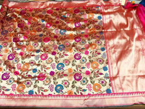 Katan & Tissue Silk Saree - Indien Boutique