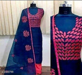Cotton Embroidered Dress Material - Indien Boutique