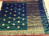 Green Banarasi Silk Saree - Indien Boutique