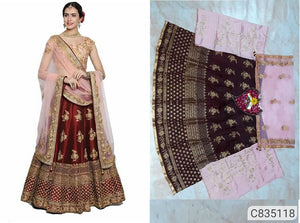 Silk & Net Lehenga - Indien Boutique
