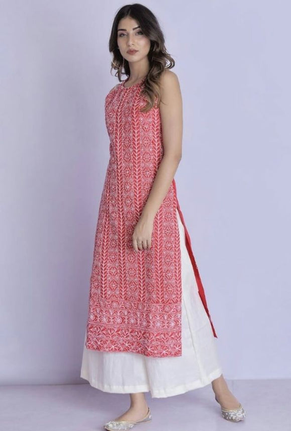 Cotton Kurta Palazzo Set - Indien Boutique