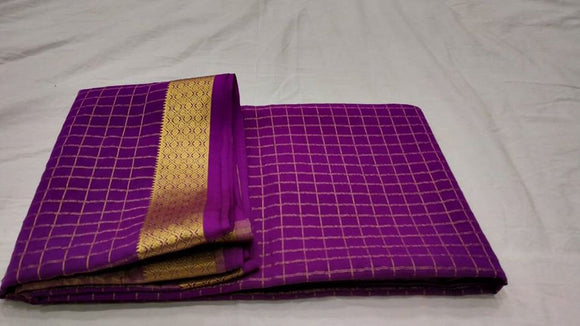 Mysore Silk Check Sarees - Indien Boutique