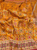 Yellow Patola Saree with Meena Booti - Indien Boutique