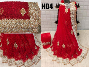 Embroidered Net Sarees - Indien Boutique