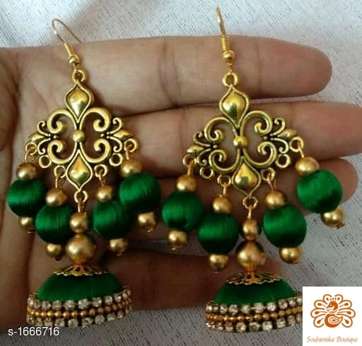 Silk Thread Earrings - Indien Boutique