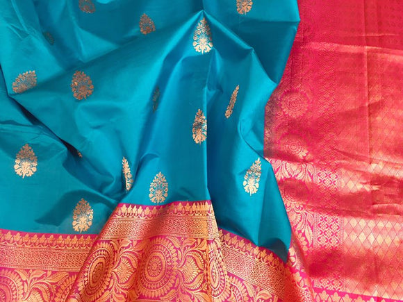 Katan Banarasi Silk Saree - Indien Boutique