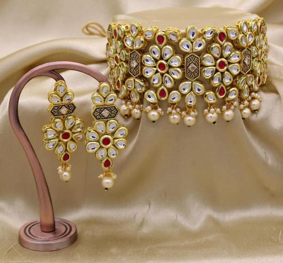 Kundan Choker Sets - Indien Boutique