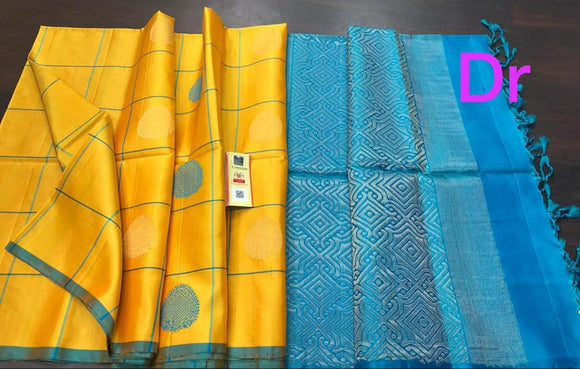 Pure Kanchi Pattu Silk Saree - Indien Boutique
