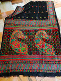 Bangalore Silk Kantha Saree - Indien Boutique
