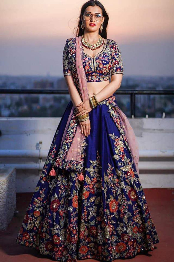 Blue Georgette Lehenga - Indien Boutique