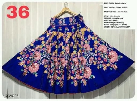 Banglori Satin Skirt - Indien Boutique