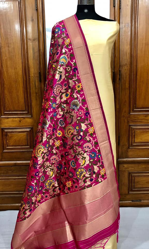 Banarasi Silk Dress Material - Indien Boutique