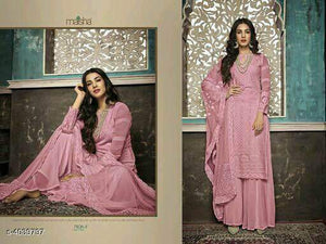 Designer Salwar Sharara Dress Material - Indien Boutique