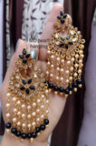 Pearl hanging Earrings - Indien Boutique