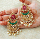 Brass Alloy Earrings - Indien Boutique