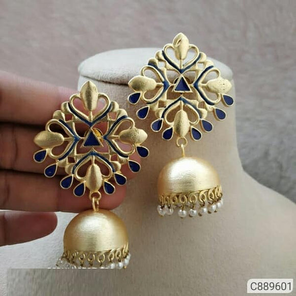 Stone studded earrings - Indien Boutique