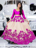 Net Embroidered Lehenga - Indien Boutique