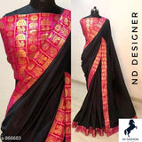 Sana Silk Sarees with Contrast Jacquard Border - Indien Boutique