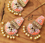 Meenakari maangtika earring Sets - Indien Boutique