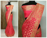 Soft Silk Saree with Zari work - Indien Boutique