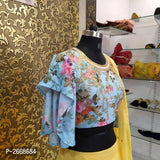 Yellow Georgette Lehenga - Indien Boutique