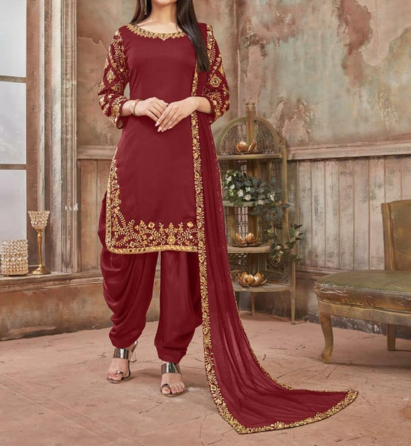 Silk Patiala Suit - Indien Boutique